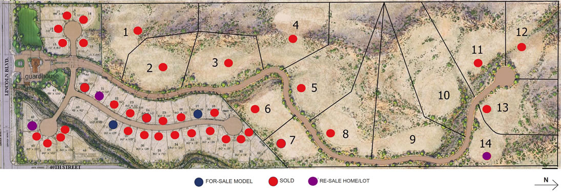 Paradise Reserve Property Lot Map
