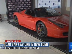 Paradise Valley home features Car Bar